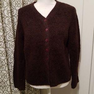 Vintage Express fuzzy brown sweater